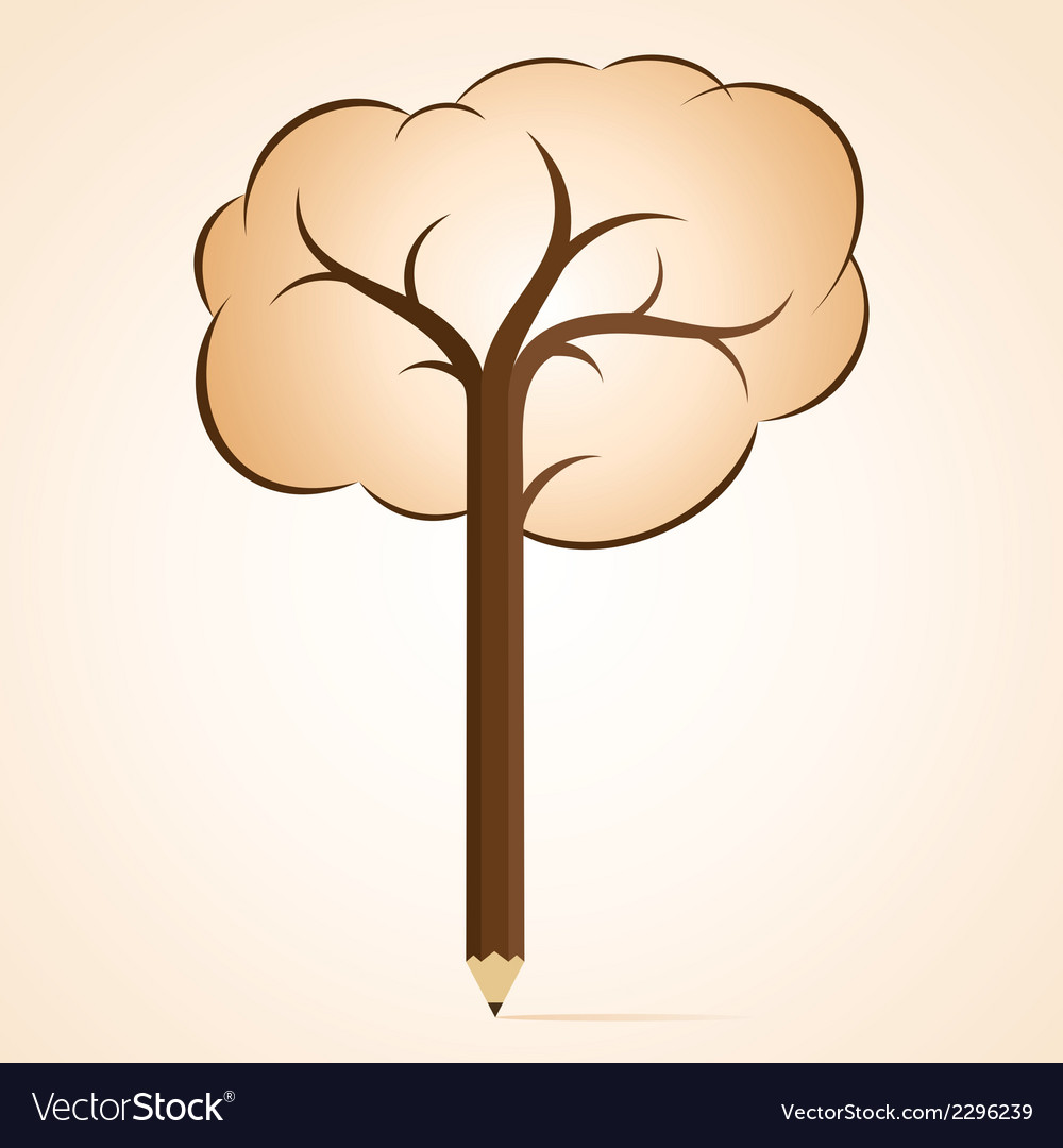 Abstract pencil tree vector | Price: 1 Credit (USD $1)