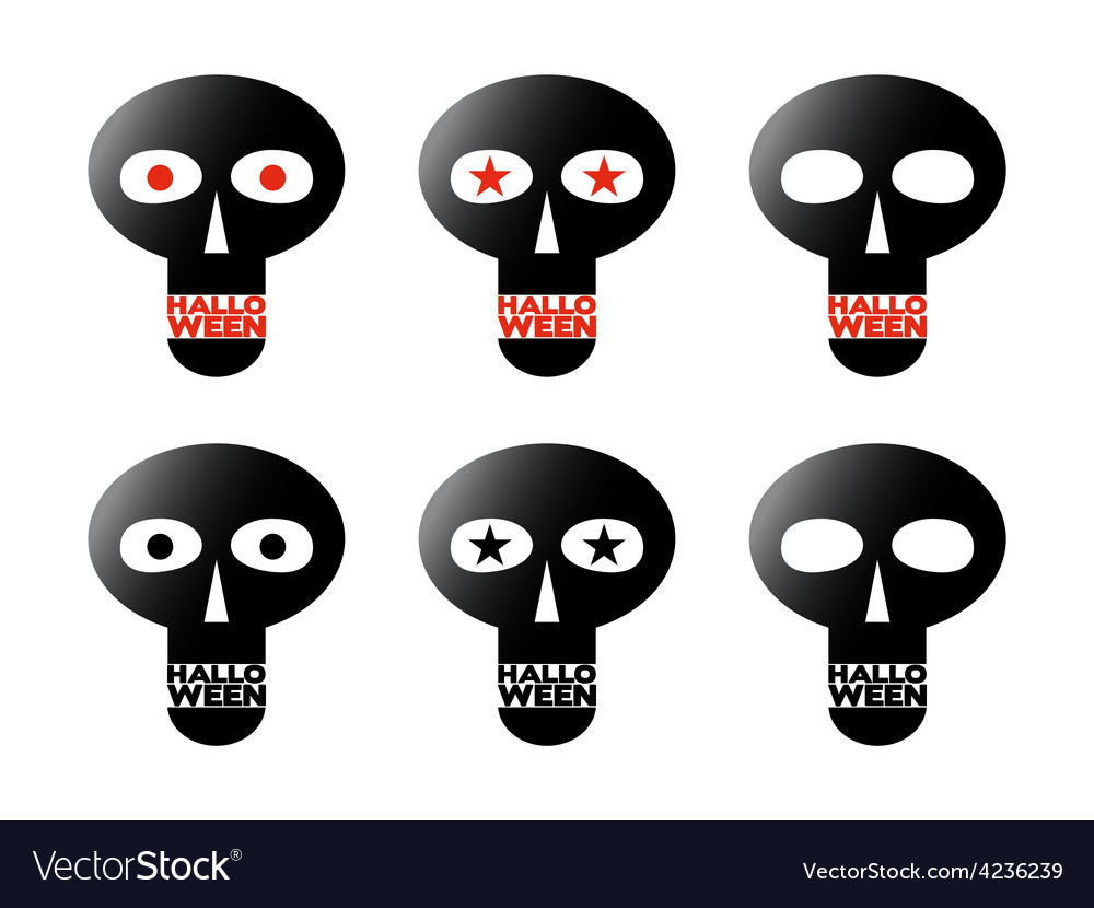Black skulls vector | Price: 3 Credit (USD $3)