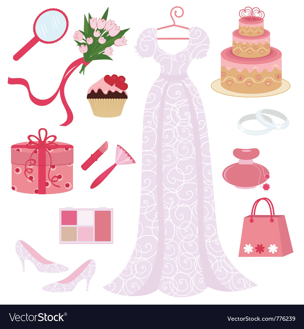 Bridal shower set vector | Price: 3 Credit (USD $3)