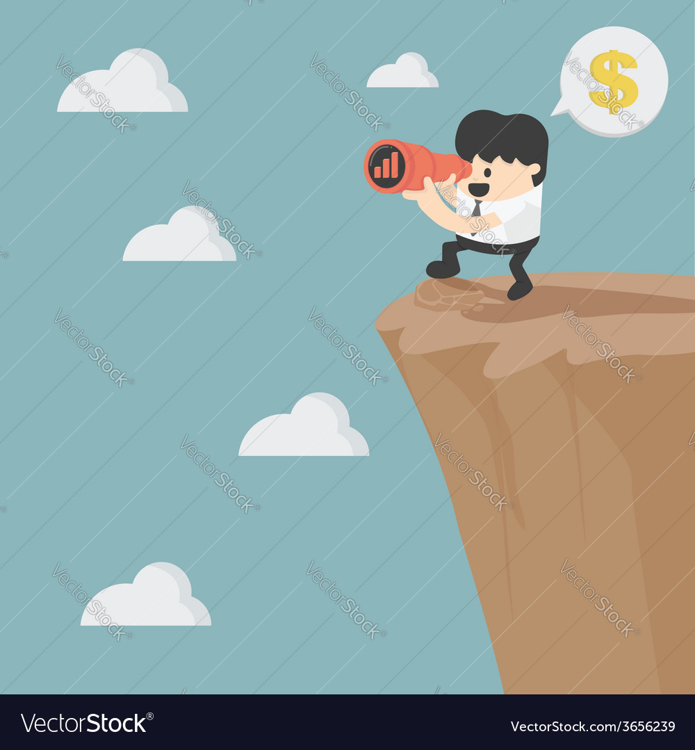 Businessman looking on investment vector | Price: 1 Credit (USD $1)