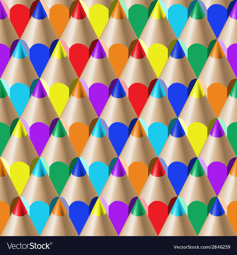 Color pencil pattern vector | Price: 1 Credit (USD $1)