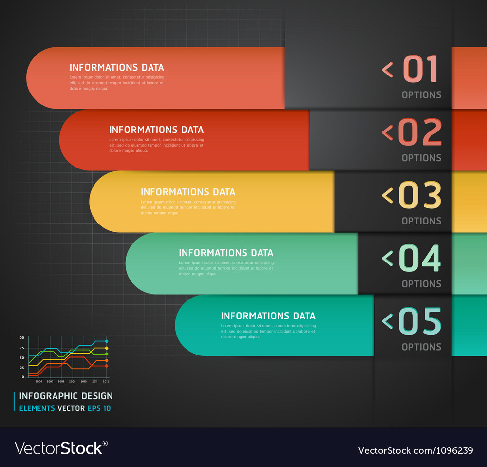 Colorful number options banner template vector | Price: 1 Credit (USD $1)