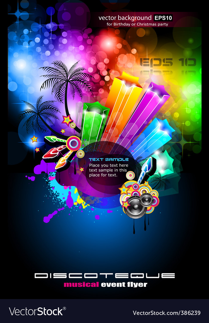 Disco palm evolution vector | Price: 3 Credit (USD $3)