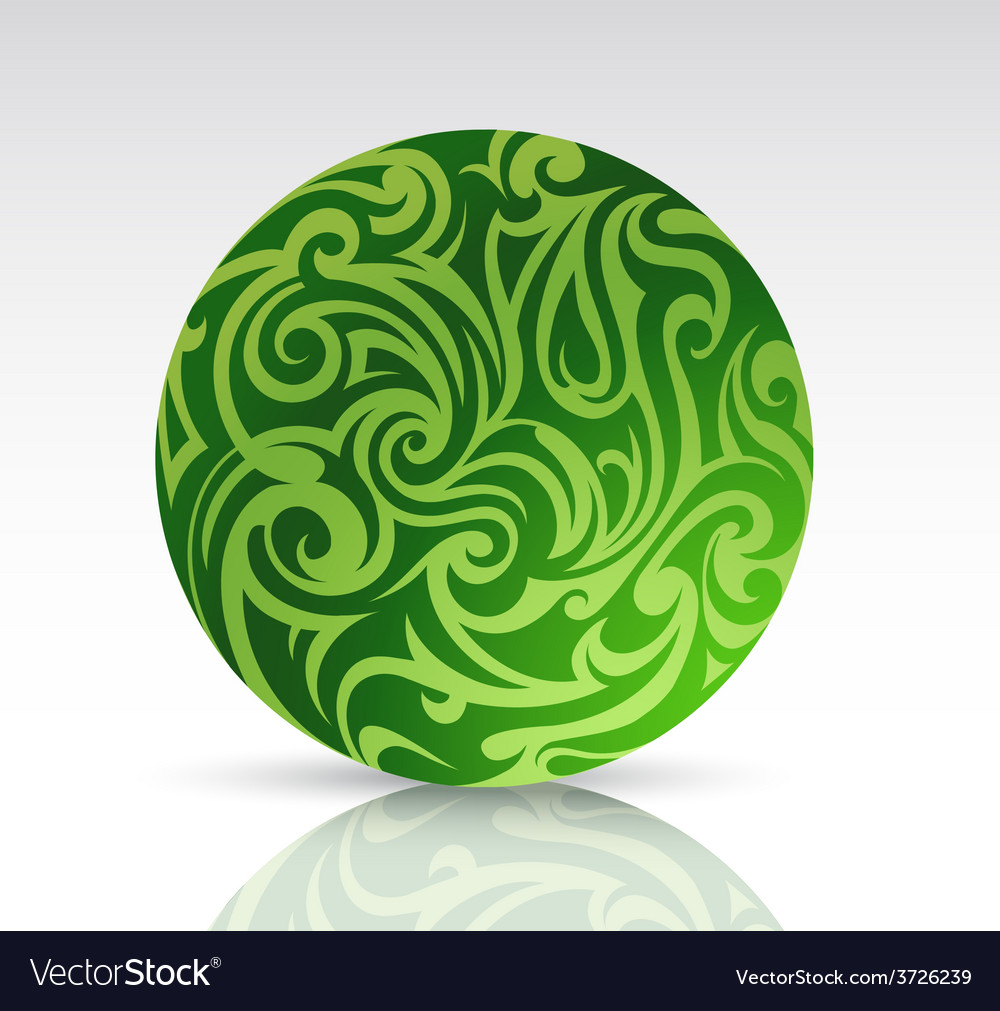 Floral sphere as design element vector | Price: 1 Credit (USD $1)