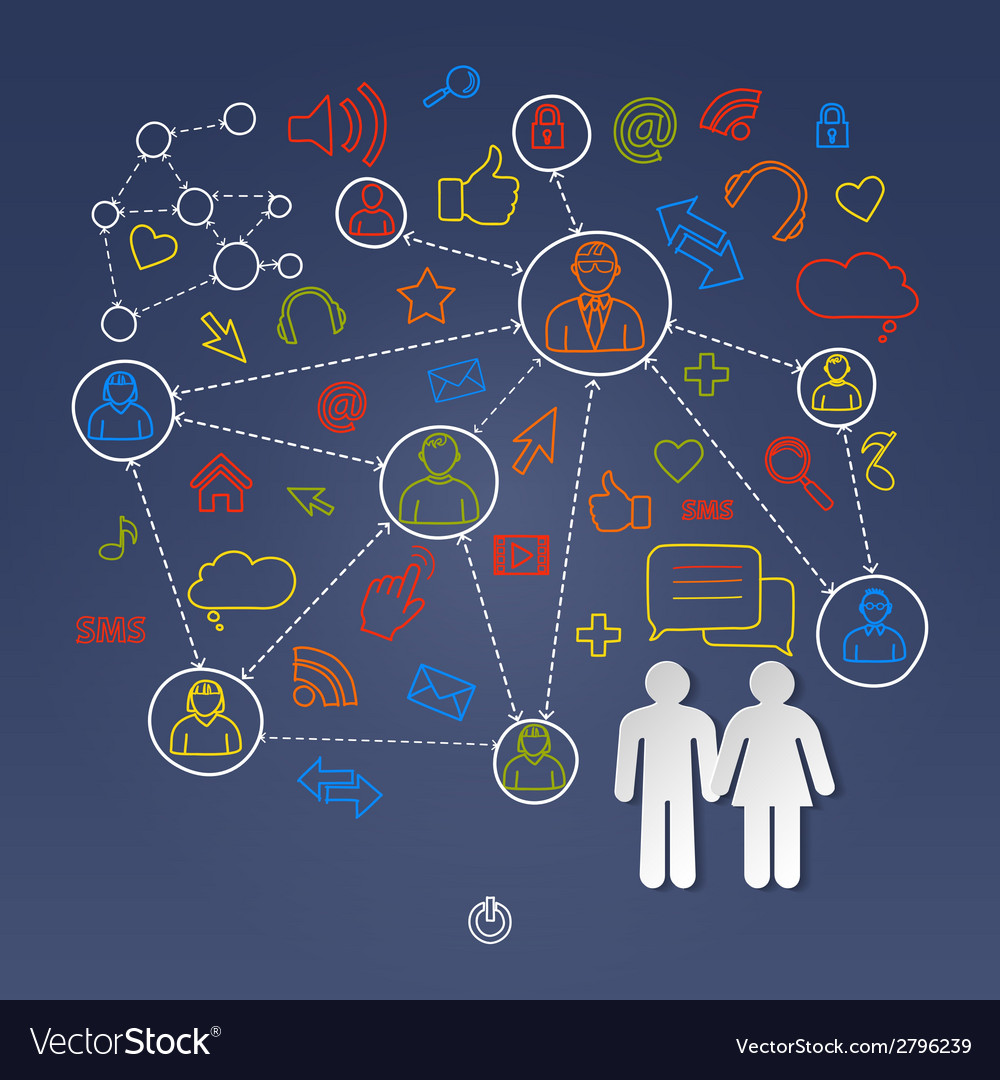 Global cyberspace social network concept vector | Price: 1 Credit (USD $1)