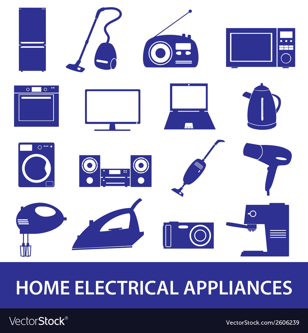 Home electrical appliances set eps10 vector | Price: 1 Credit (USD $1)