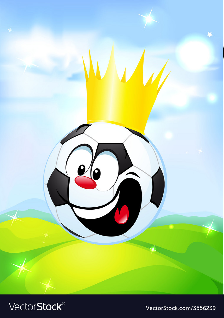 King of football - soccer ball with the royal vector | Price: 1 Credit (USD $1)