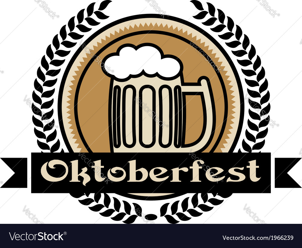 Oktoberfest beer icon or label vector | Price: 1 Credit (USD $1)