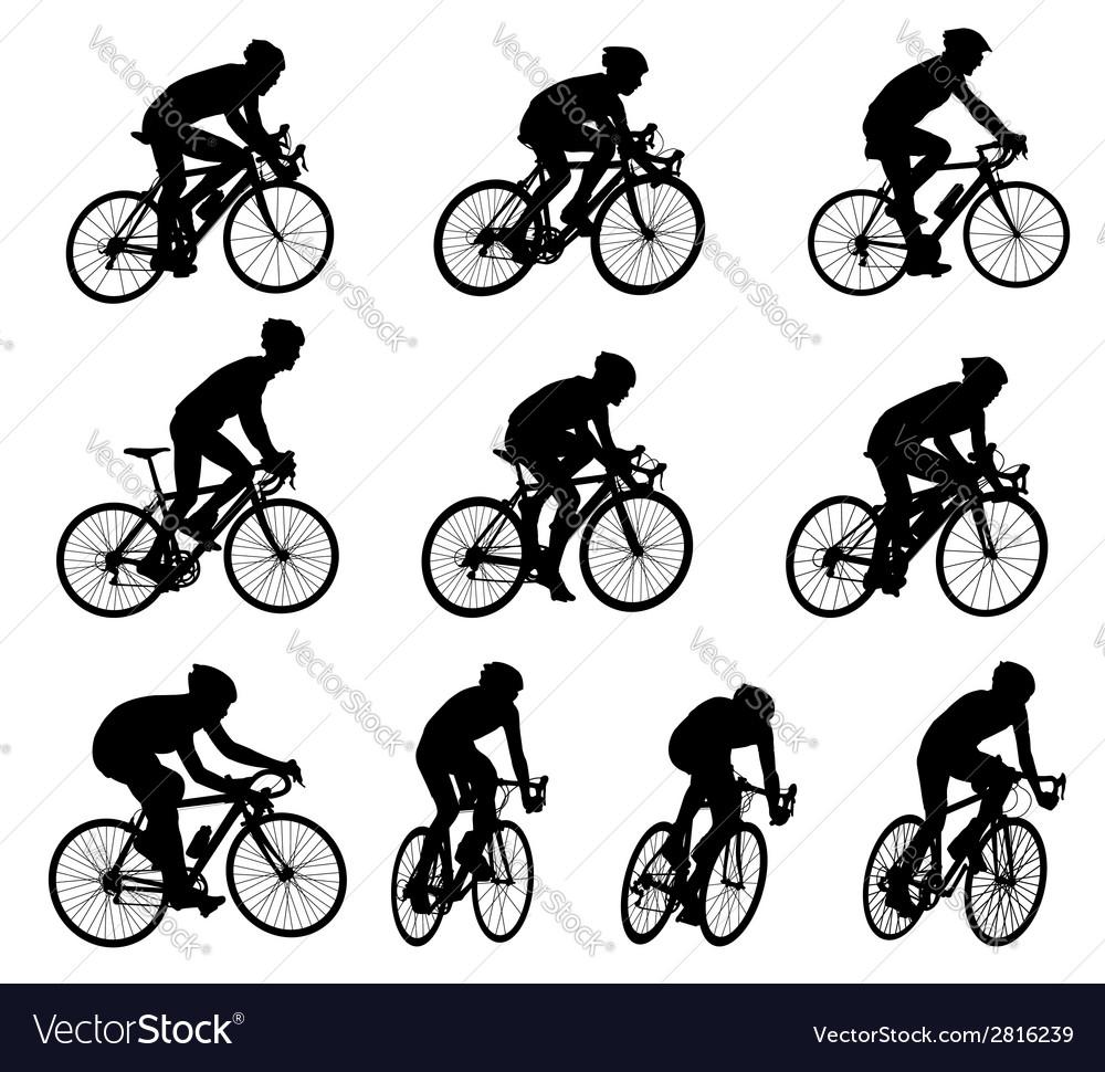 Racing bicyclists vector | Price: 1 Credit (USD $1)