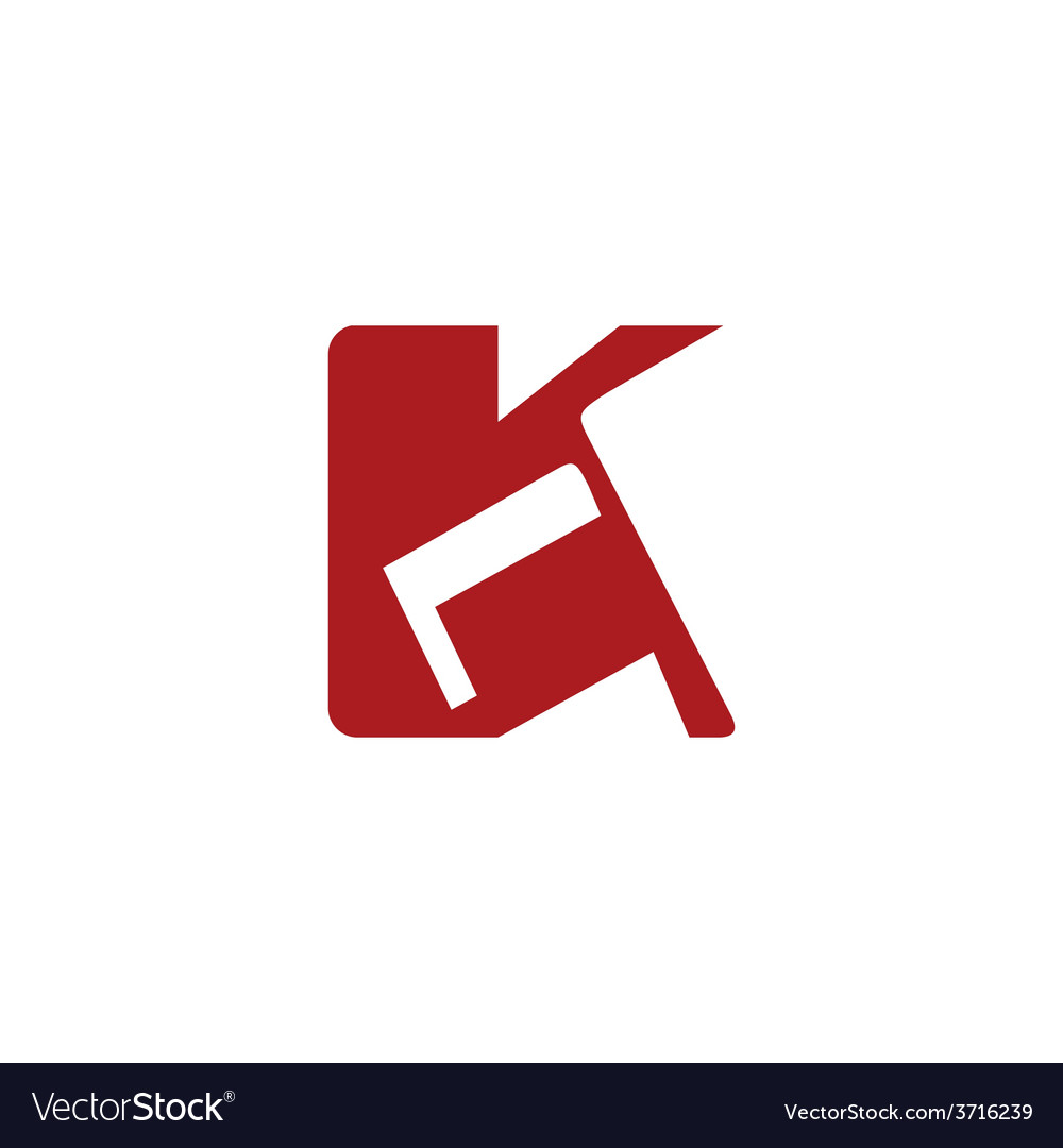 Sign of the letter k vector | Price: 1 Credit (USD $1)
