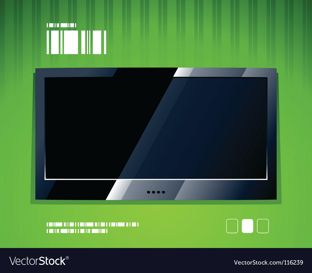 Tv panel vector | Price: 1 Credit (USD $1)