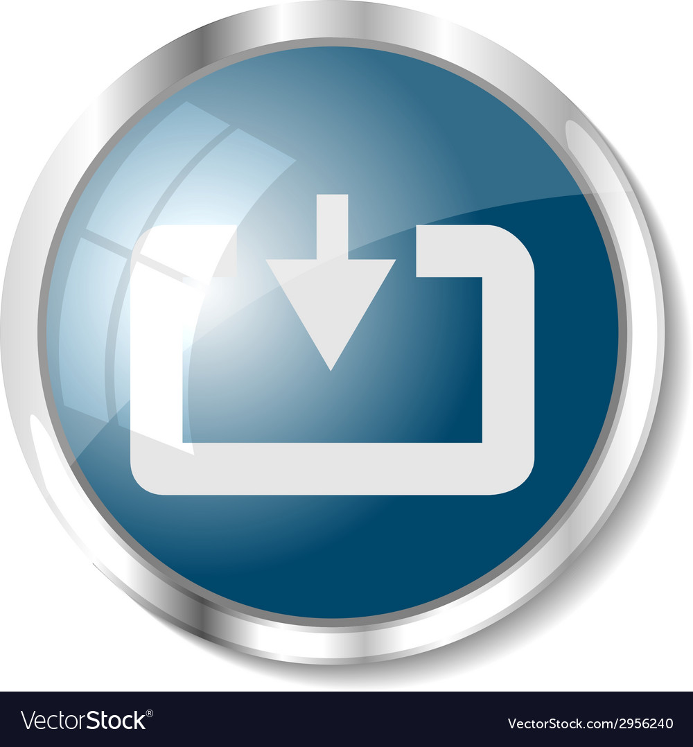 Blue web button vector | Price: 1 Credit (USD $1)