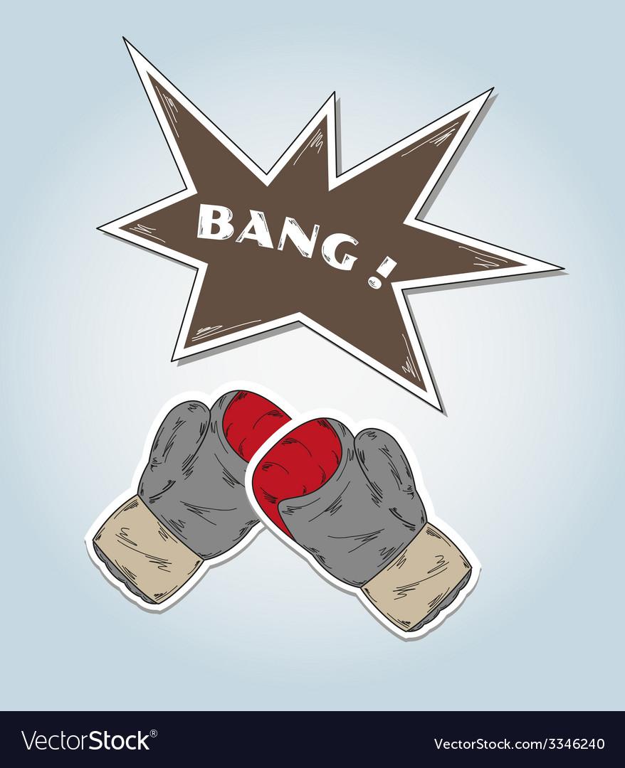 Boxing glove vector | Price: 1 Credit (USD $1)