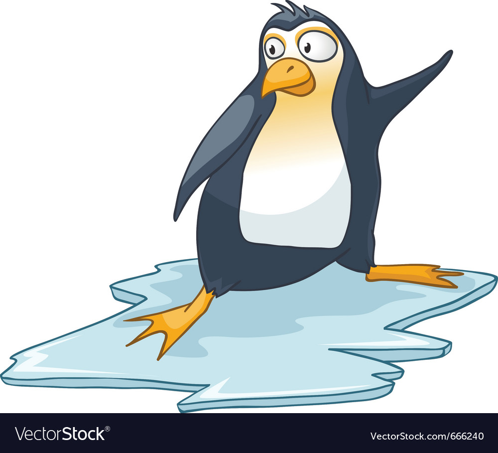 Cartoon character penguin vector | Price: 3 Credit (USD $3)