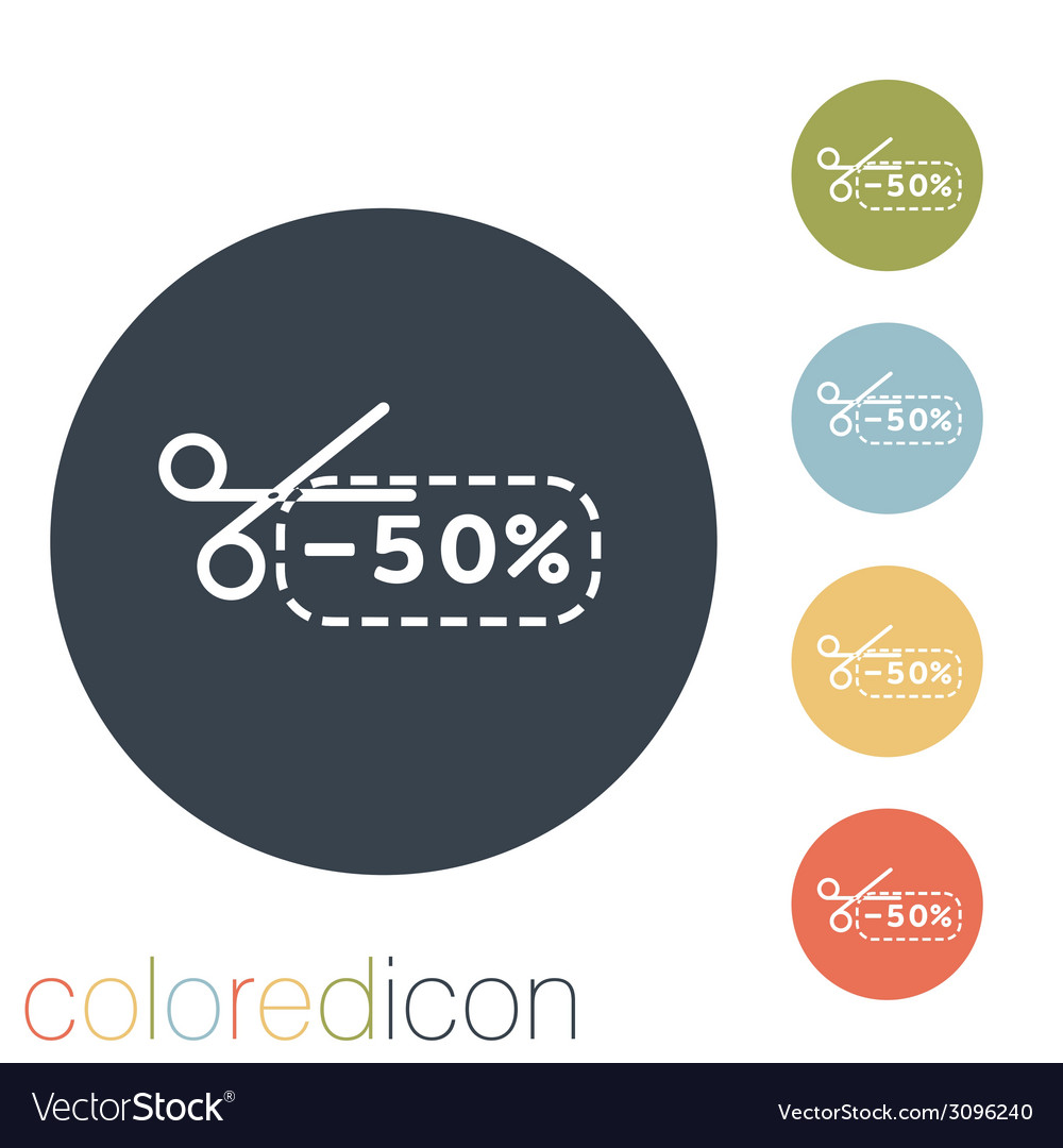 Discount coupon with scissors vector | Price: 1 Credit (USD $1)
