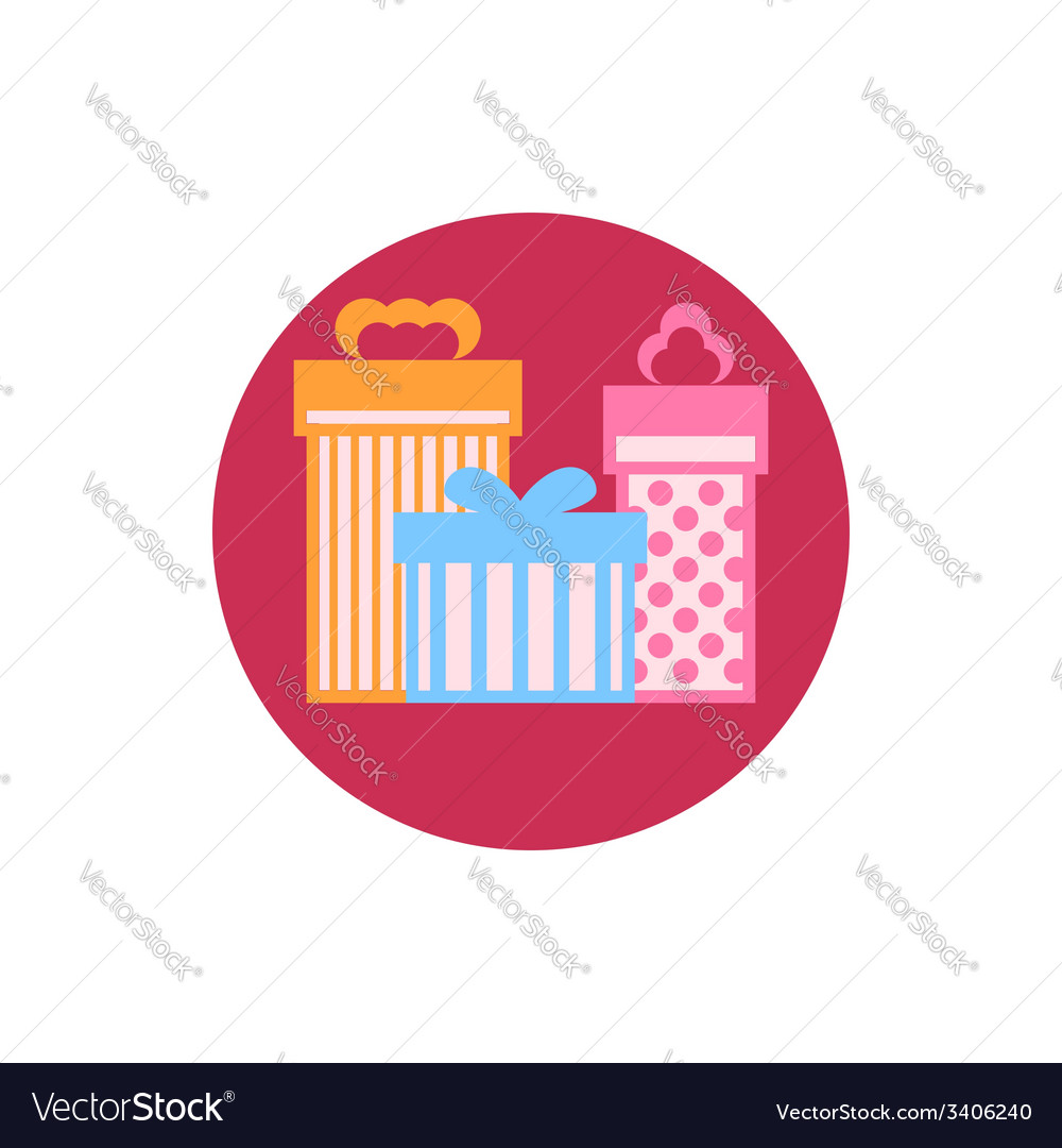 Gift boxes icon vector | Price: 1 Credit (USD $1)