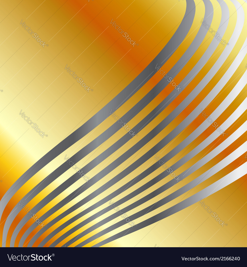 High grade gold metal background with silver swirl vector | Price: 1 Credit (USD $1)