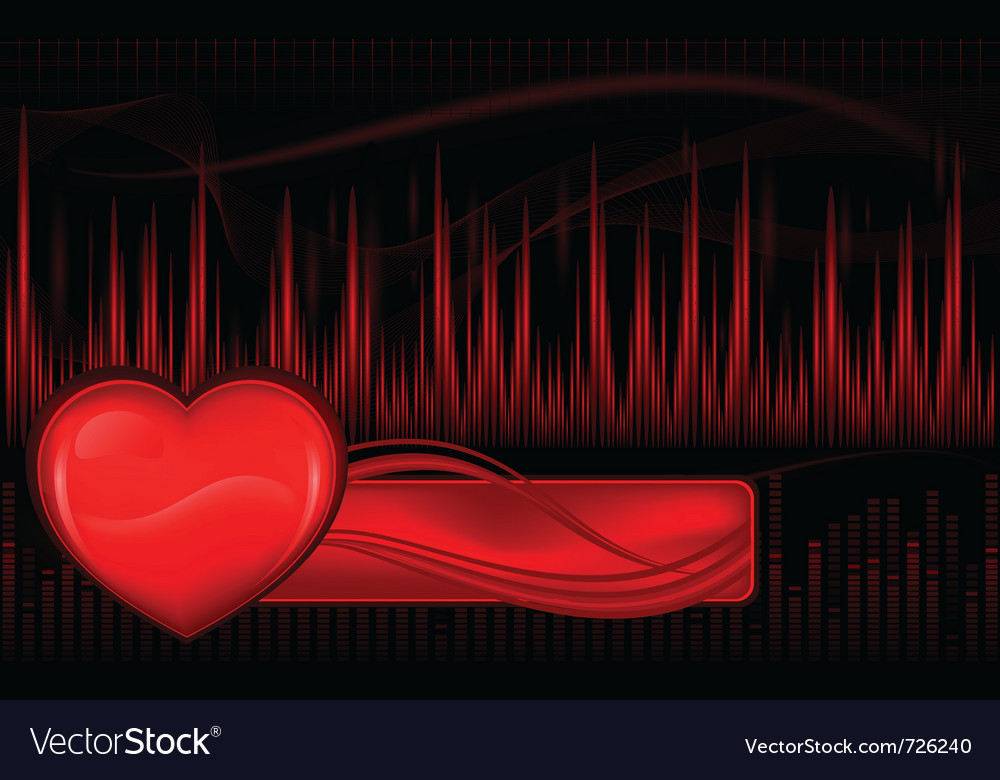 Pulse waves and heart vector | Price: 1 Credit (USD $1)