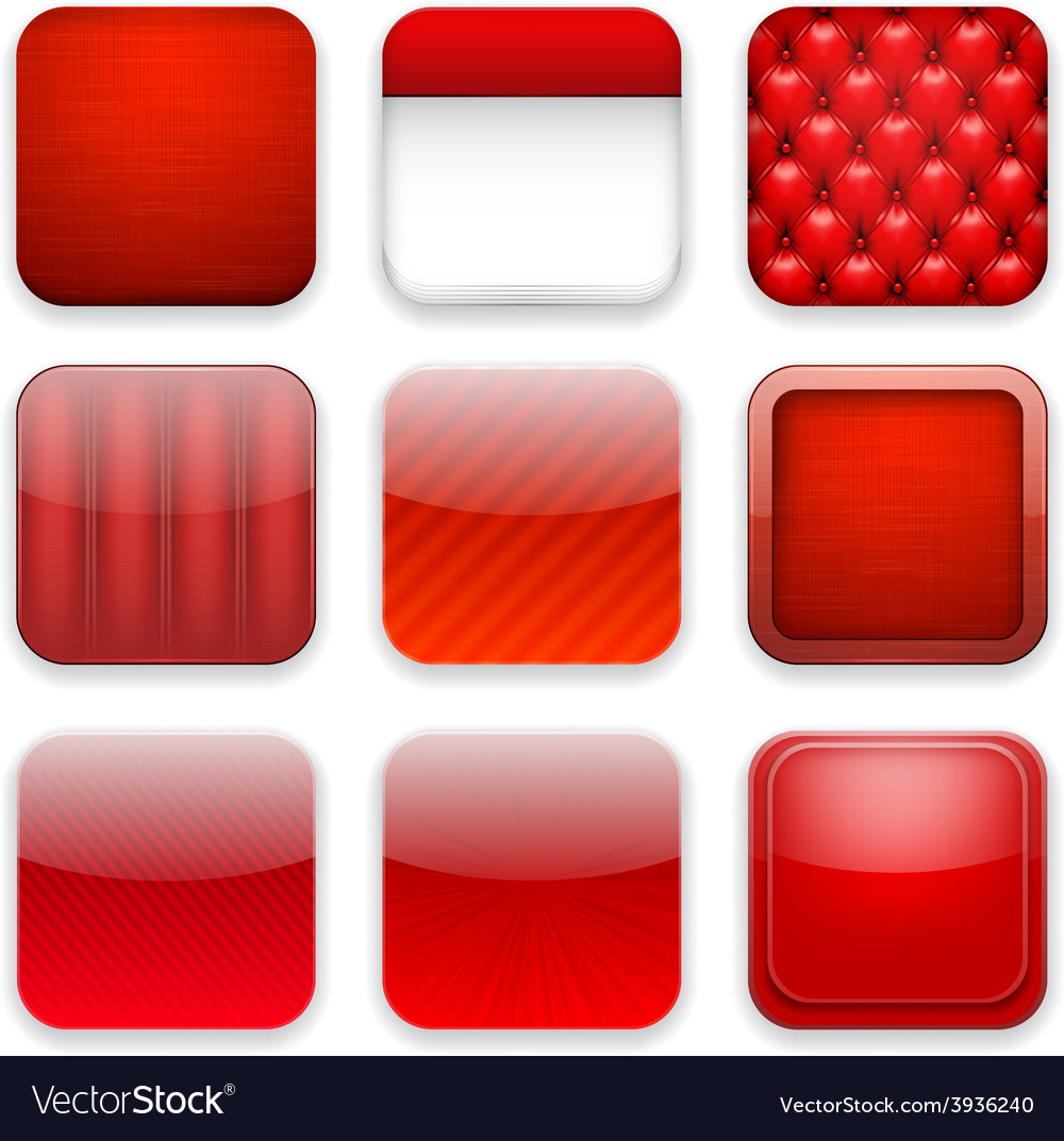 Red app icons vector | Price: 1 Credit (USD $1)