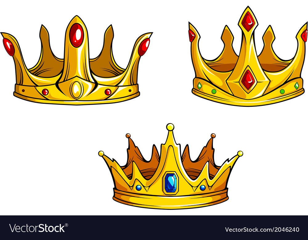 Royal crowns set vector | Price: 1 Credit (USD $1)
