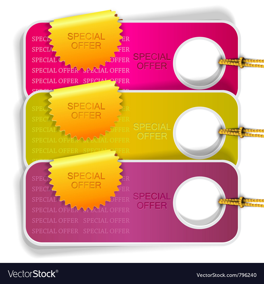 Special offer labels vector | Price: 1 Credit (USD $1)