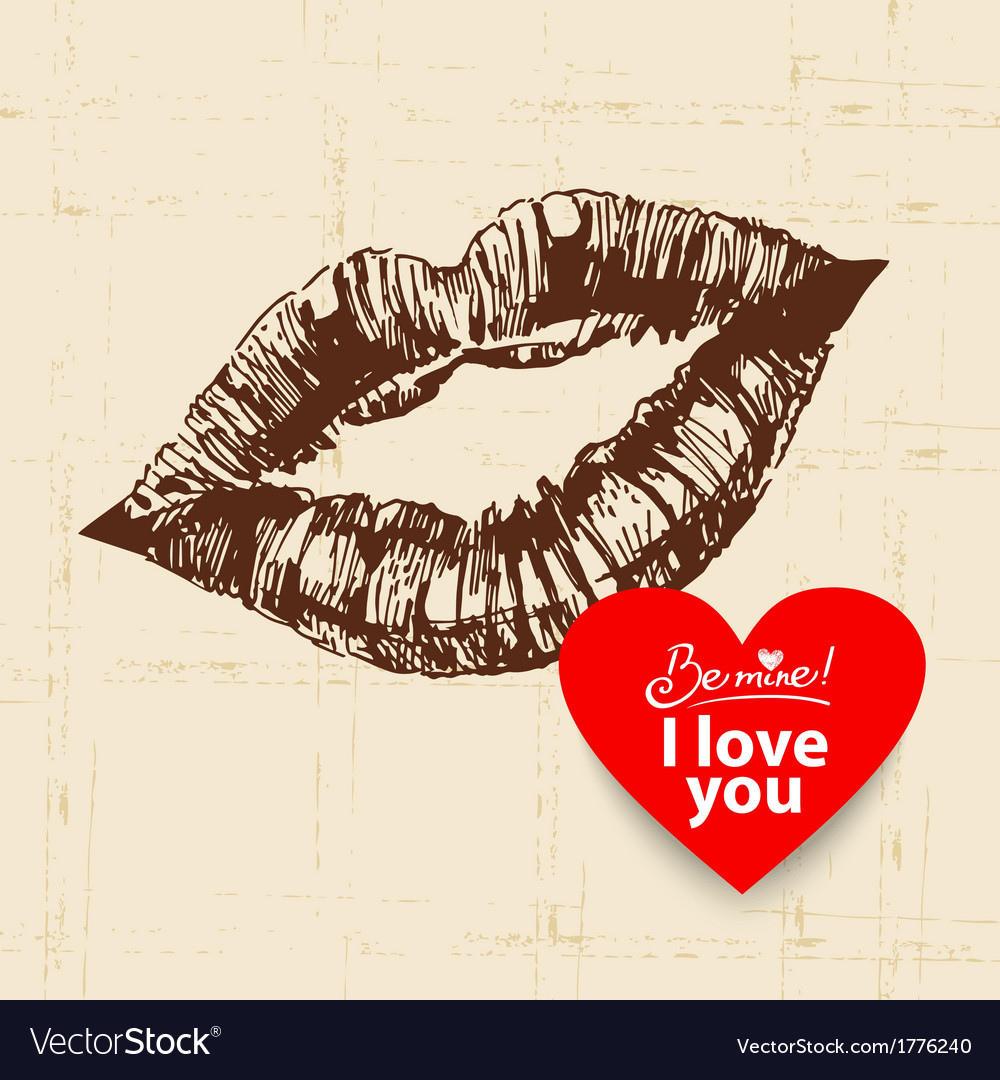 Valentines day vintage background vector | Price: 1 Credit (USD $1)