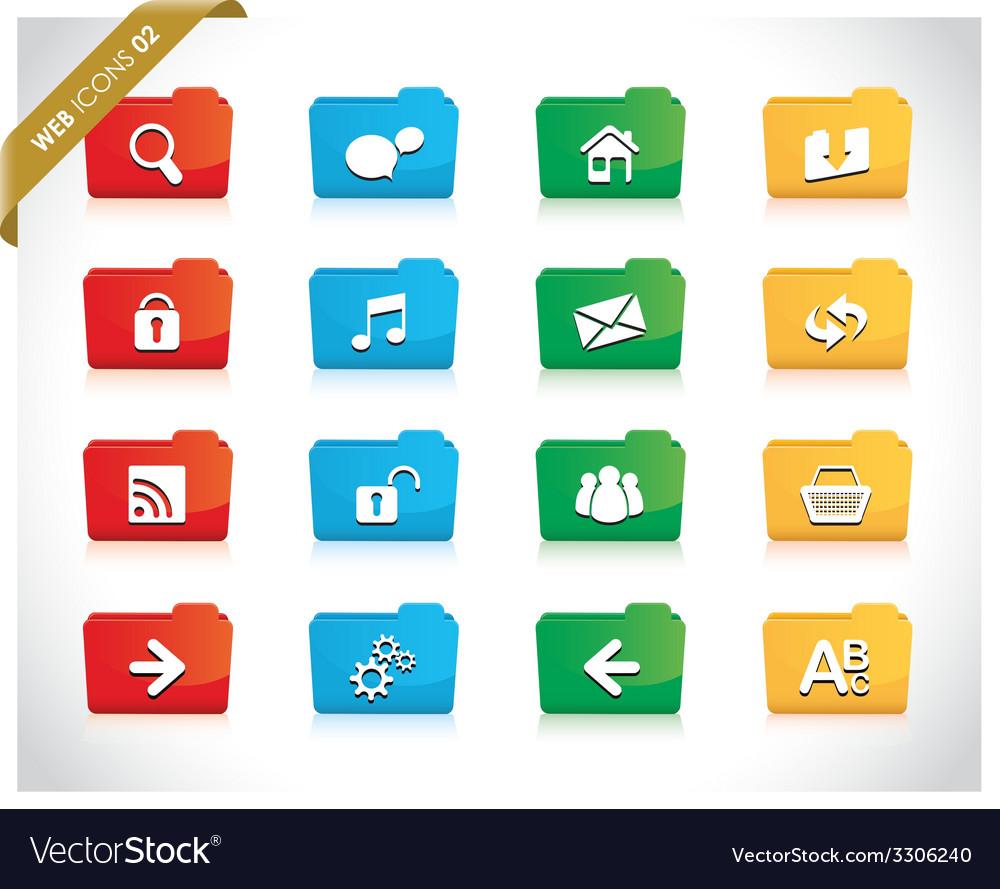 Web folders vector | Price: 1 Credit (USD $1)