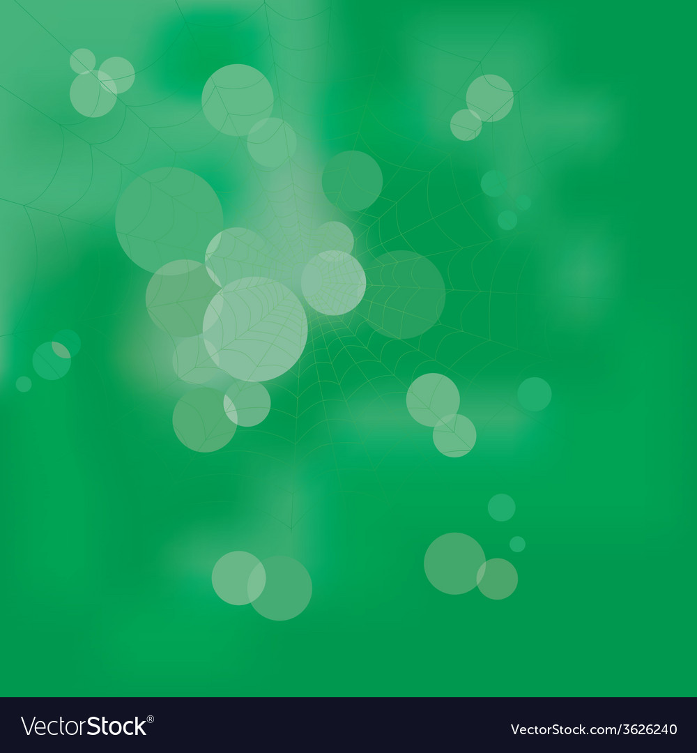 Web in the wood on a green abstract background vector | Price: 1 Credit (USD $1)