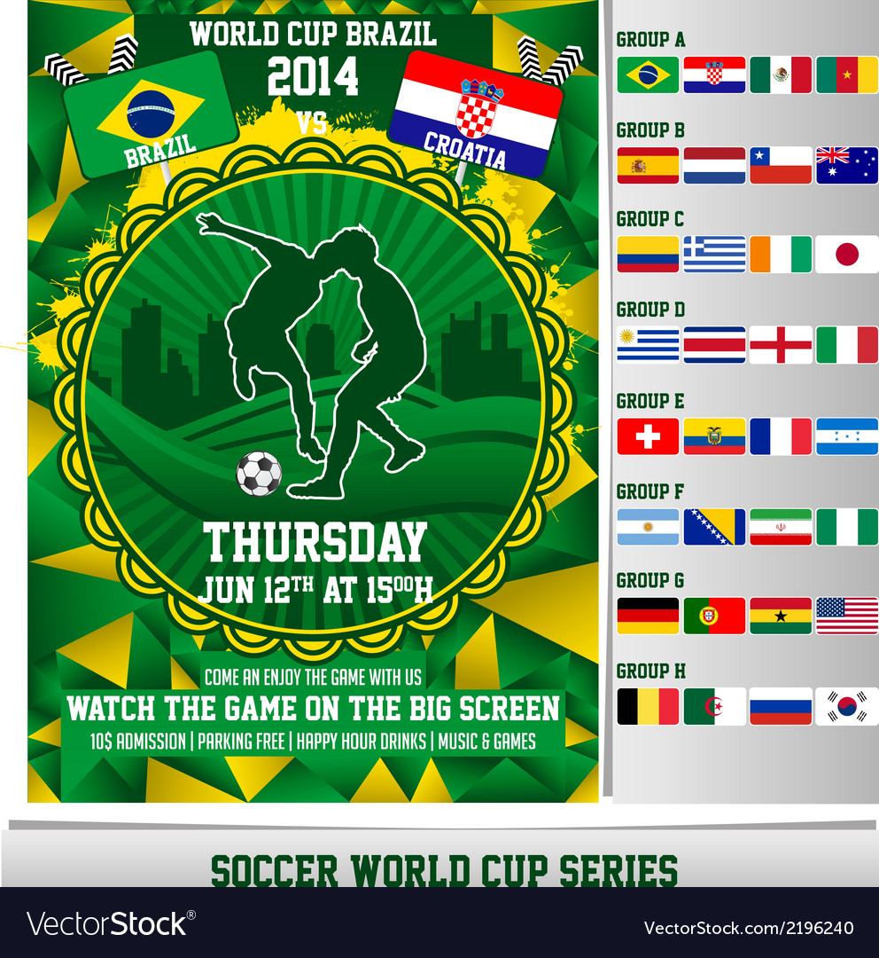 World cup 2014 flyer vector | Price: 1 Credit (USD $1)