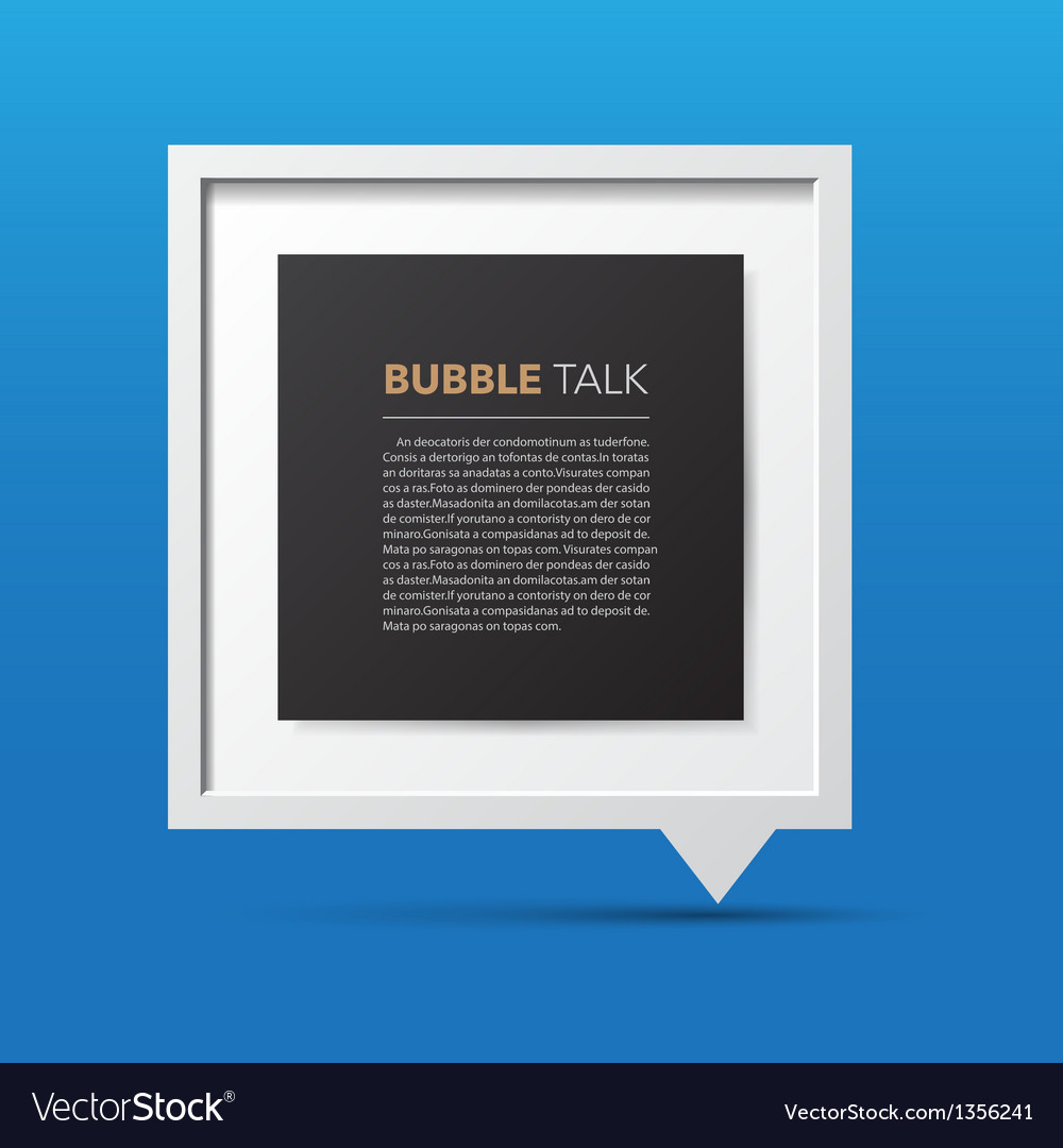 3d bubble talk frame vector | Price: 1 Credit (USD $1)