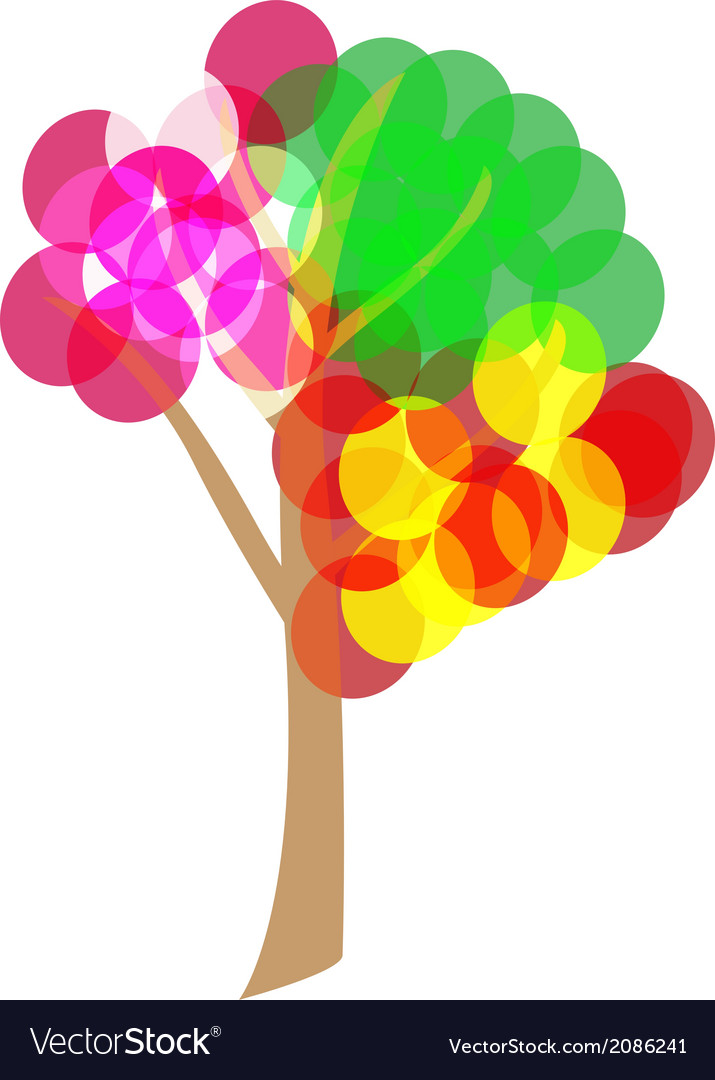 4 seasons tree vector | Price: 1 Credit (USD $1)