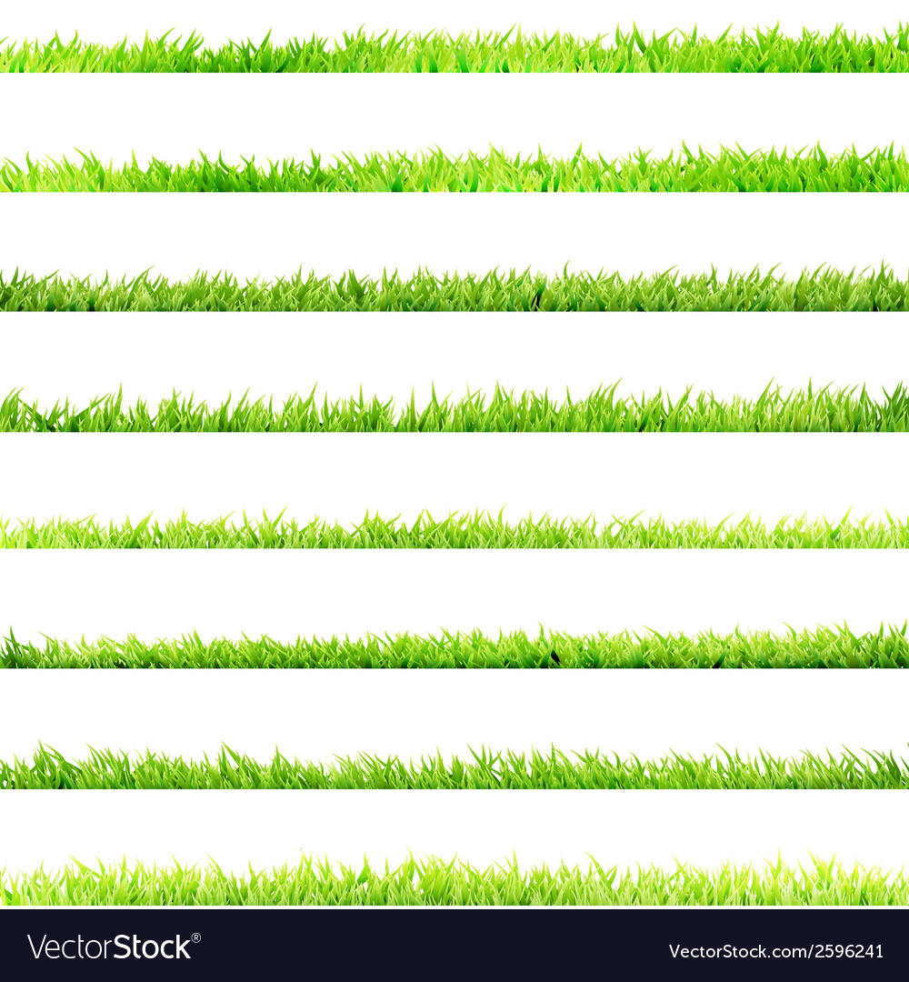 8 item set small grass eps 10 vector | Price: 1 Credit (USD $1)