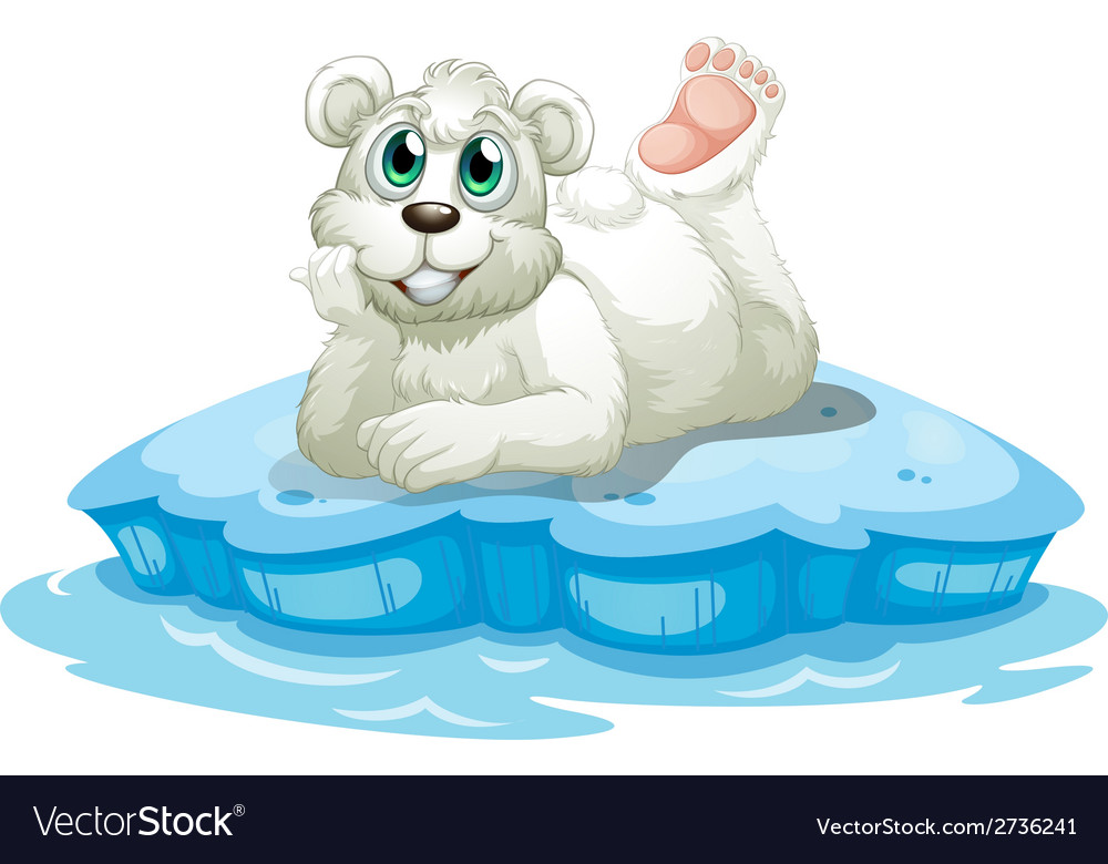 A happy bear above the iceberg vector | Price: 1 Credit (USD $1)