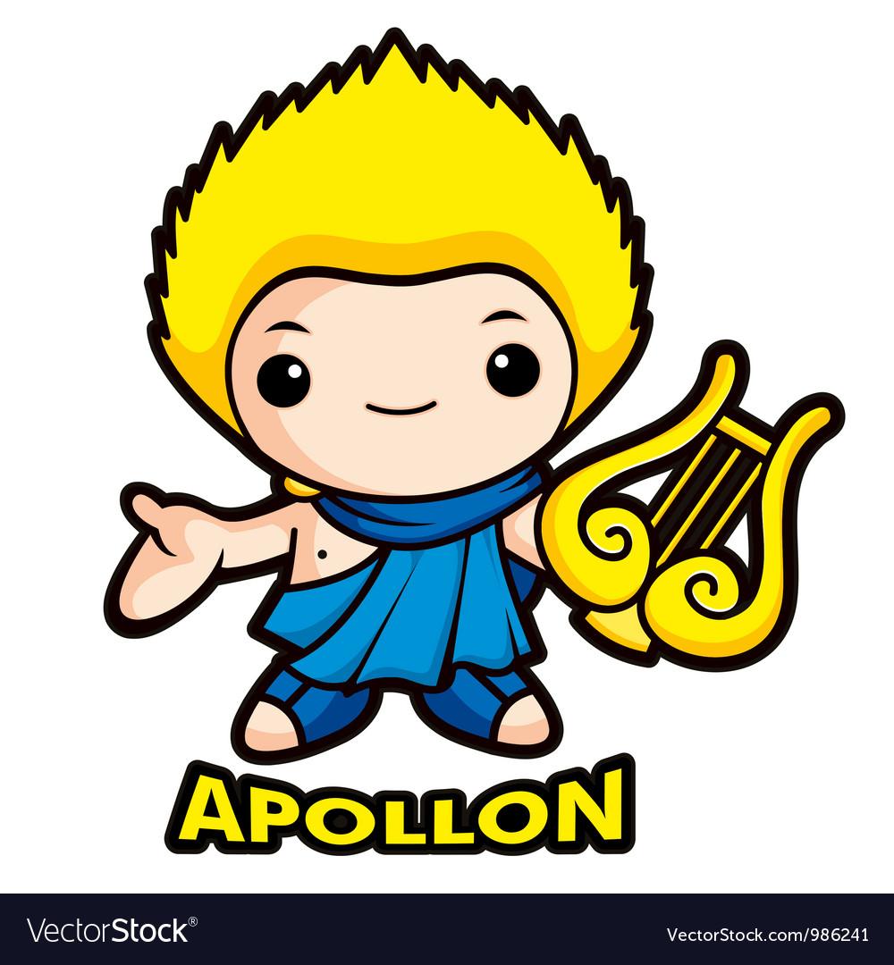 Apollo the god of the sun vector | Price: 1 Credit (USD $1)