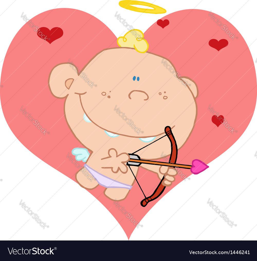 Baby cupid shooting arrows vector | Price: 1 Credit (USD $1)
