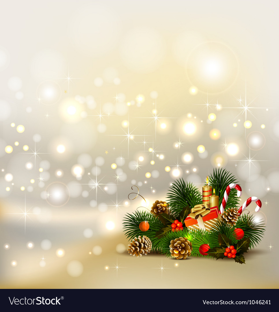 Christmas background with still life vector | Price: 1 Credit (USD $1)