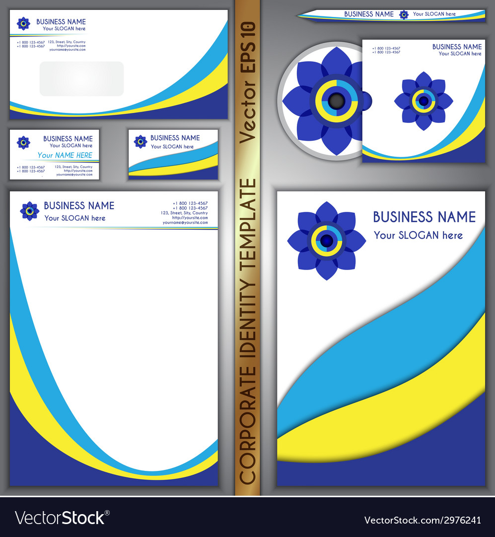 Corporate brand template vector | Price: 1 Credit (USD $1)