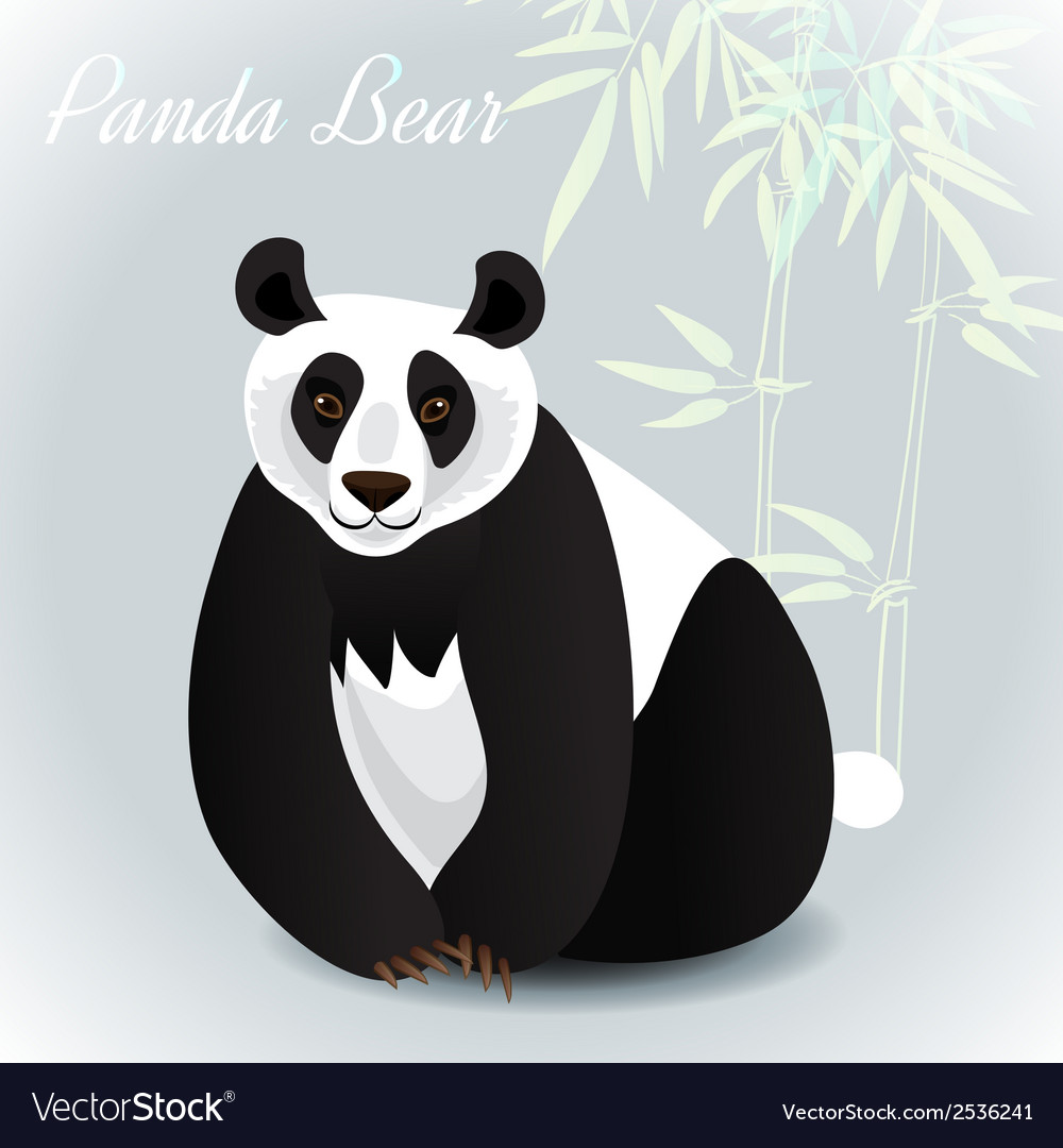 Giant panda card vector | Price: 1 Credit (USD $1)
