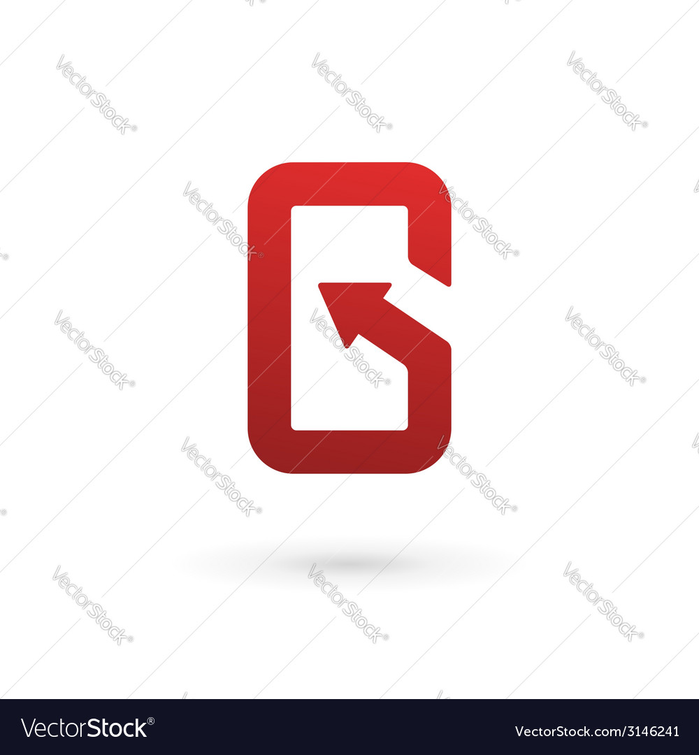 Letter g arrow mobile phone app logo icon design vector | Price: 1 Credit (USD $1)