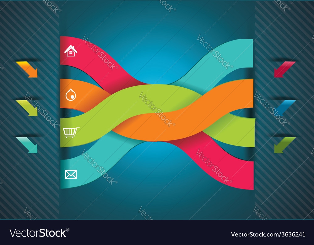 Modern origami style number options banner vector | Price: 1 Credit (USD $1)
