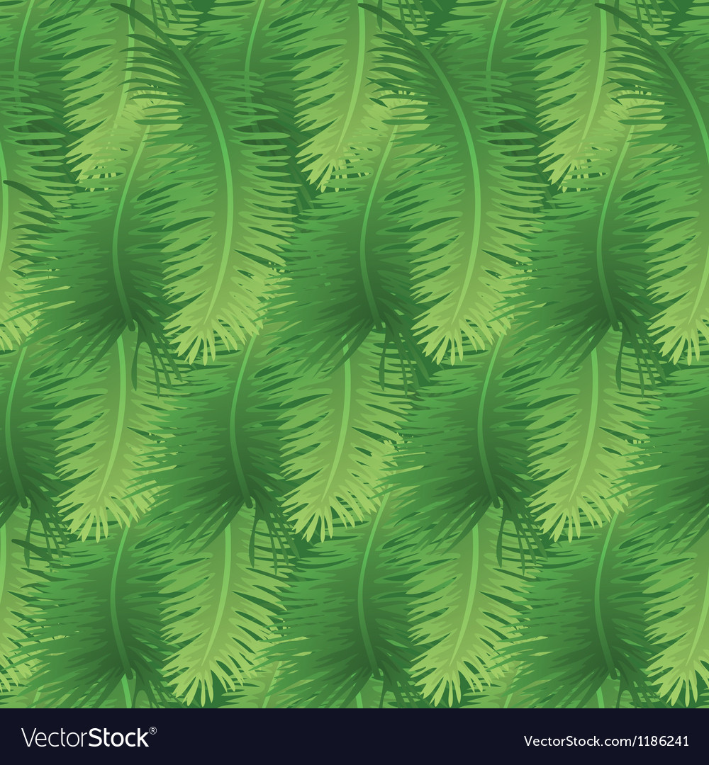 Seamless background palm leaves vector | Price: 1 Credit (USD $1)