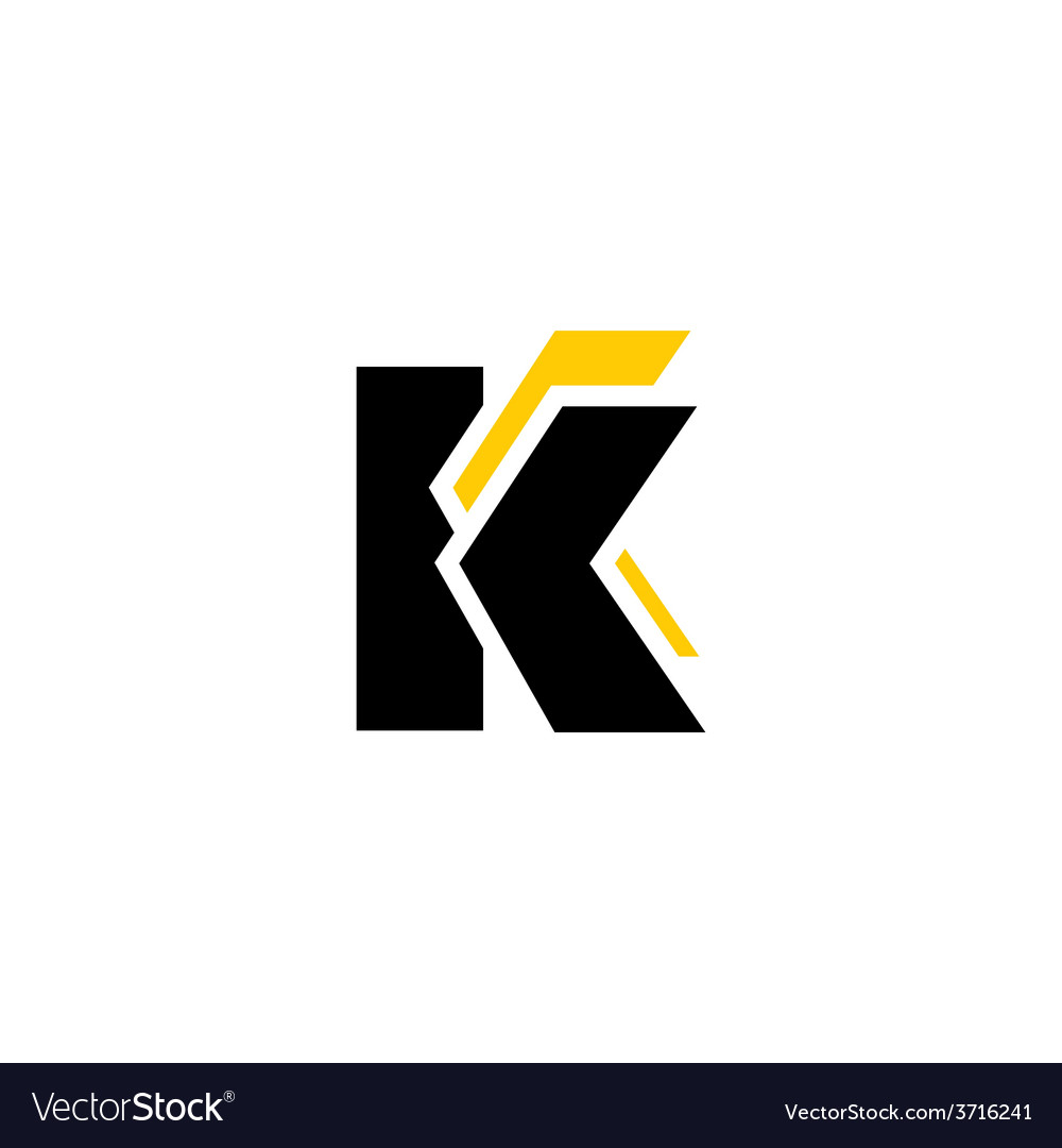 Sign of the letter k and c vector | Price: 1 Credit (USD $1)