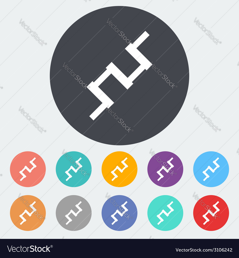Crankshaft single icon vector | Price: 1 Credit (USD $1)