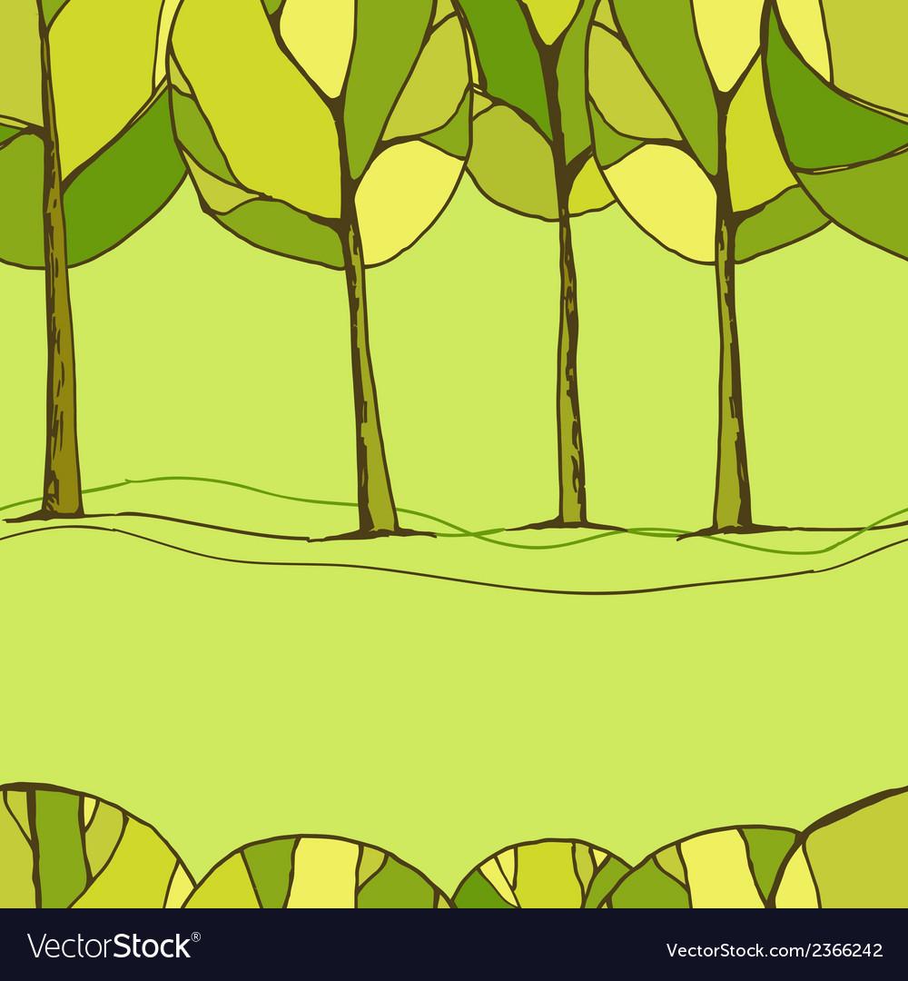 Decorative trees background vector   Price: 1 Credit (USD $1)
