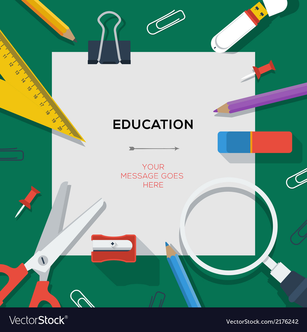 Education and science concept - template with vector | Price: 1 Credit (USD $1)