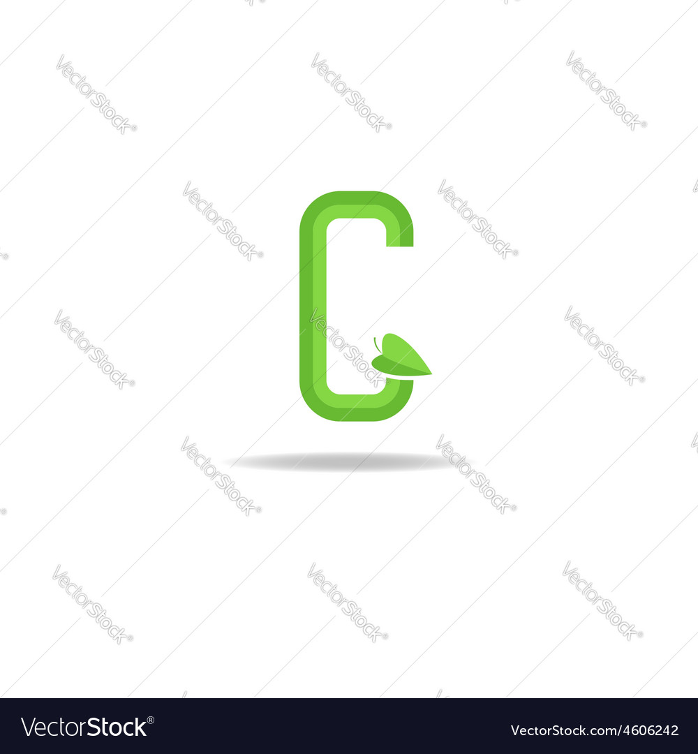 Green letter g logo eco concept icon ecology vector | Price: 1 Credit (USD $1)