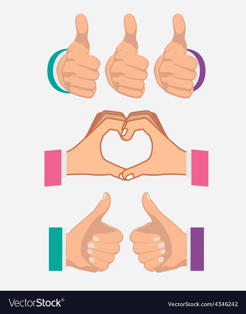 Hands gesture design vector | Price: 1 Credit (USD $1)