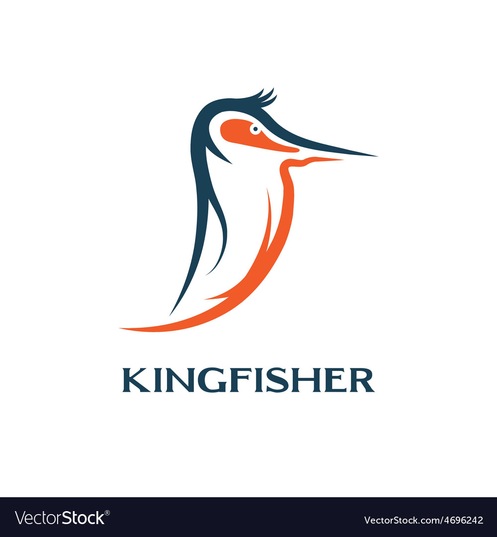 Kingfisher bird design template vector | Price: 1 Credit (USD $1)