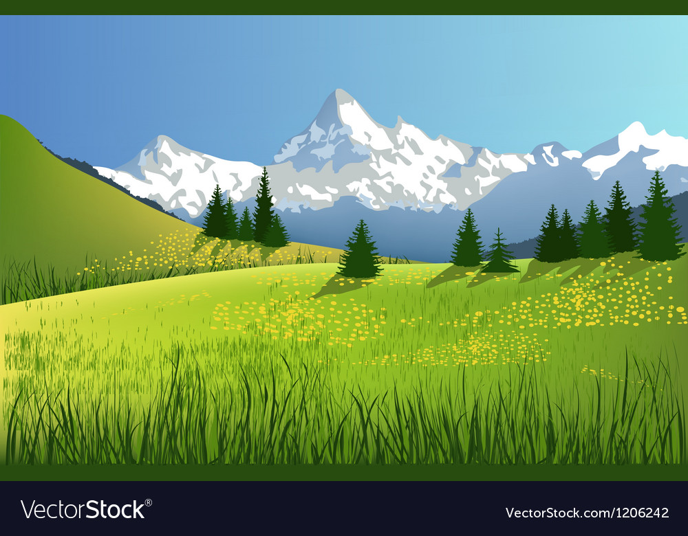 Mountain landscape vector | Price: 1 Credit (USD $1)