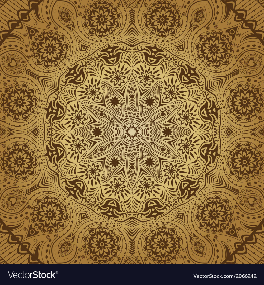 Ornamental lace pattern circle background with vector   Price: 1 Credit (USD $1)